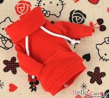 ☆╮Cool Cat╭☆ 195.【NH-A03】Blythe Pullip Lovely Clothe Pocket Top # Red