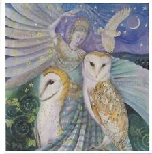 PAGAN WICCAN GREETING CARDS Owl Dancing WENDY ANDREW Goddess CELTIC Birthday