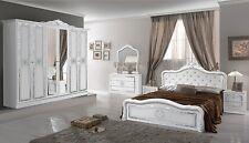 Schlafzimmer Luisa in weiss 6 türig Luxus italienische Möbel aus Italien