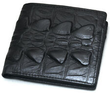 Black Leather Wallets For Mens Credit Card Wallet Zipper Pocket Purse F5014B