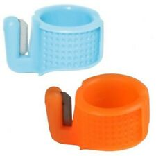 SEWING Thimble Plastic Ring with knife THREAD cutter, must have for all tailors