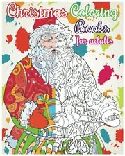 NEW Christmas Coloring Books For Adults 50+ Relaxation Designs SHIPS FREE IN U.S