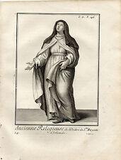 XVIIIe / ANCIENNE RELIGIEUSE DE L'ORDRE DE Ste BRIGITTE D'IRLANDE