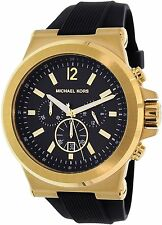 Michael Kors Men's MK8445 Black Rubber Quartz Watch