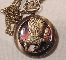 Jaybird Coppertone Pocket Watch Montre à Gousset Oiseau