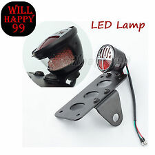 LED Side Mount License Plate Brake Stop Tail light Bracket for Harley Bobber