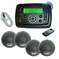 Marine Boat Stereo MP3/AM/FM/USB/Ipod Player + 4 x Speakers + Antenna Bluetooth