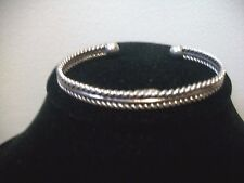 """WOMEN""""S  STERLING SILVER .925 MEXICO MEXICAN CUFF BRACELET 17 GRAMS"""