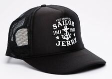 Sailor Jerry Rum My Work Anchor Logo Tattoo Punk Biker Snapback Cap Trucker Hat