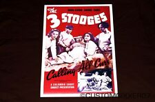 The Three 3 Stooges Calling All Curs movie Theater poster Lobby card art print