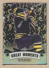 Jack Eichel GM-6 2016 Leaf Metal Great Moments Prismatic Black 1/7