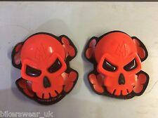 MOTRAX Motorcycle/Motorbike Protection Knee Slider Skull Red as Pair