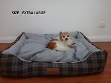 CHRISTMAS SALE! NEW DOG BED X-LARGE MAX COMFORT SUEDE PET BED SOFT STYLISH