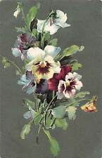 Embossed, Pansy Violets Flowers Bouquet, B.B. London, Series