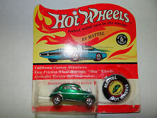 Hot Wheels Redline Custom Volkswagen BEETLE VW Blister Pack GREEN 1967 USA Versi