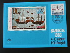 sailing ship Bangkok PFA 1983 in Thailand maximum card Sweden 54126