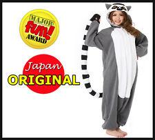 New! Original Sazac Animals Onesie Madagascar Ring-tailed Lemur Kigurumi PaJamas