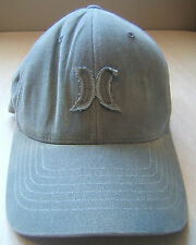 Distressed Stained Faded Hurley Cap Fitted Flexfit Hat Worn