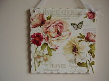 Shabby Chic Vintage Picture Plaques Lovely Hand made Gift, Gift Wrapped !