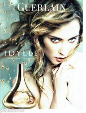 PUBLICITE ADVERTISING  046  2010  Guerlain  parfum Idylle  (recto verso)