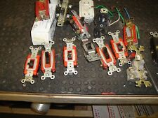 LOT OF 15 Hubbell LEVETON SWITCHES 3 WAY 4 WAY   receptacles USED FREE SHIPPING