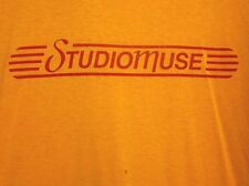 STUDIOMUSE logo lrg T shirt Houston music Texas label Villarreal & Franks 1980s