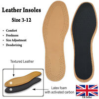 Unisex Real Leather Shoe Booot Insoles Sheep Skin Size 3-12 Available