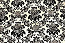 GOLD & BLACK DAMASK TEXTURED PHOTOGRAPHY BACKDROP RAYON/COTTON/POLY 5 X 9 FEET