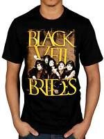 Official Black Veil Brides Golden T-Shirt Rock Inferno Skull Wild Ones Band BVB