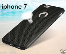 Weaven Pattern Thin Black Mesh Rubber Soft Back Case Cover For iPhone 7