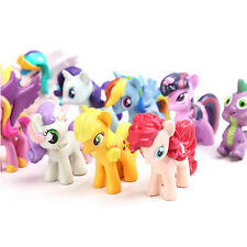 12pcs/Set  My Little Pony Cake Toppers PVC Action Figure Toy Dolls Kid Gift Xmas