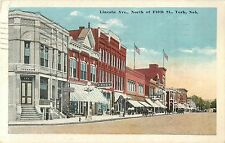 A View of the Shops on Lincoln Avenue, North of Fifth Street, York NE 1935