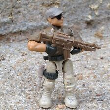 LEGO / MEGA BLOKS Desert Commando Army Soldier Minifigure With Accessories