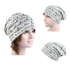 Warm US World Skull Cap Cotton Blended Unisex Hat Beanie Reversible Gray Color