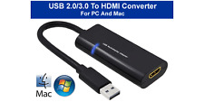 External USB 3.0 To HDMI Video Graphic Adapter For PC Mac Systems