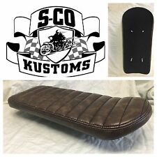 Motorcycle Banana Seat, Brat, Cafe Racer, Bobber, Tracker, LEATHER