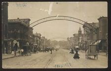 RP Postcard FLINT Michigan/MI Early Pesha Saginaw St Business Storefronts 1910's