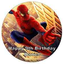 Spiderman Personalised Cake Topper Edible Wafer Paper 7.5""