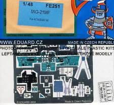 eduard MiG-21MF interior seatbelts Sitz-Gurte Ätzteile Ätzsatz 1:48 Academy NEU