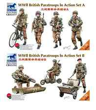BRONCO 35177 & 35192 1/35 BRITISH PARATROOPS IN ACTION FIGURES SETS A & B BNIB