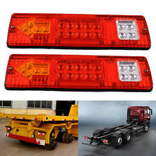 2X 19 LED Trailer Truck RV Rear Tail Running Stop Light Indicator Lamp
