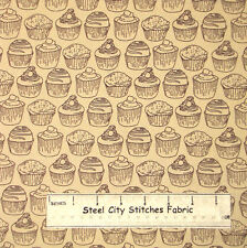 Windham Fabrics Love At First Bite Cupcakes Kitchen Food Bake Cotton Fabric YARD