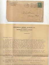 Imperial Steel Range Co CLEVELAND OH Antique Letterhead, Mailing Card, and Cover