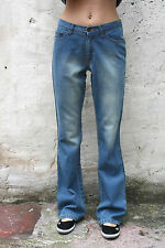 BNWT gai mattiolo jeans LADIES BLUE DENIM JEANS SUPER FADED BOOTCUT LEG W30 UK12