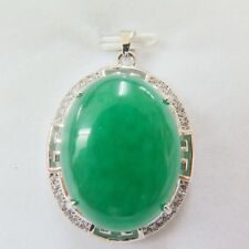 Best Match Charming 18k GP Alloy & Green Jade Lucky Round Hollow Stripe Pendant
