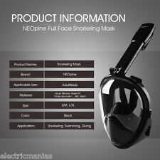 Full Face Snorkeling Mask Scuba Diving Swimming Breathing Pipe Snorkel for Gopro