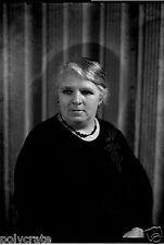 Portrait studio femme - Ancien négatif 13x18 photo verre an. 1920 30