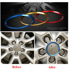 4x Wheel hub Cover Sticker Emblem Wheel Caps Ring Fit For Audi A3 A4L A6L Q5 Q3