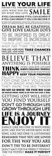 Inspiración: vivir su vida-Midi cartel 30.5cm X 91.5cm (nuevo Y Sellado)