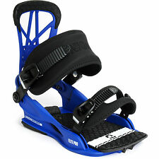 2016 NIB MENS UNION FLIGHT PRO SNOWBOARD BINDINGS $140 L/XL blue all skill level